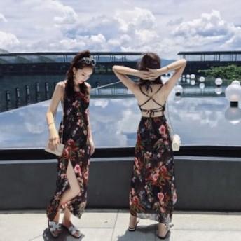 水着 レディース ビキニ ワンピース水着 花柄 3点セット ホルターネック パレオ付き 夏 リゾート ビーチ 大人可愛い フェミニン ガーリ