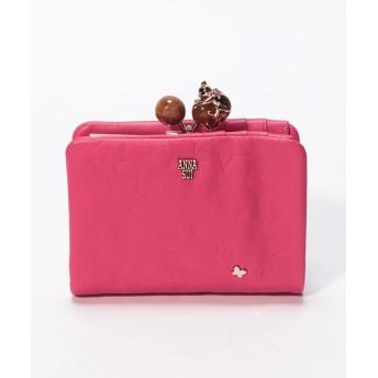 アナスイ <プレイングキャット>内口金二つ折り財布 レディース ピンク FREE 【ANNA SUI】