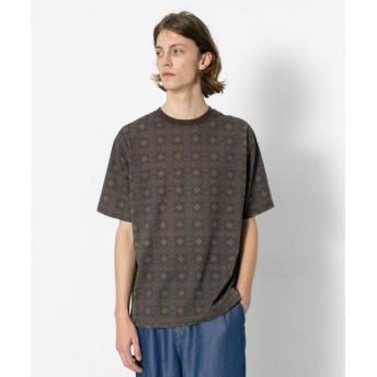 【58%OFF】 センスオブプレイス バティックTシャツ(5分袖) メンズ BROWN L 【SENSE OF PLACE】 【セール開催中】