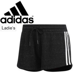 ショートパンツ レディース アディダス adidas S2S コットン 3ストライプ スポーツウェア トレーニング 女性用 短パン カジュアル スポカジ ボトムス/DKE72