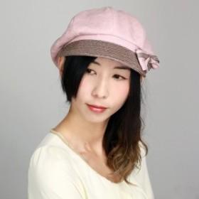 キャスケット レディース UVカット帽子  春夏 帽子 リボン かわいいつば付き UVカット ブレード