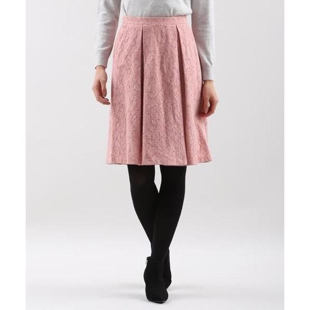 CLEAR IMPRESSION / クリアインプレッション ニットボンディングレーススカート