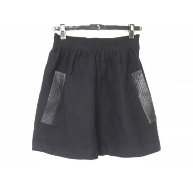 【中古】 オープニングセレモニー OPENING CEREMONY ミニスカート サイズ2 M レディース 黒 レザー