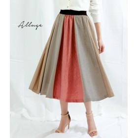 ANAP(アナップ)カラードッキングフレアスカート