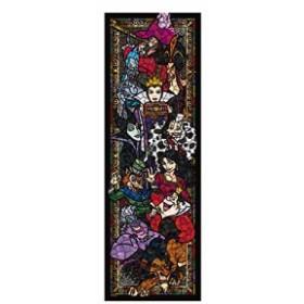 新品 456ピース ジグソーパズル ディズニー ヴィランズ ステンドグラス  ぎゅっとシリーズ 【ステンドアート】(18.5x55.5cm) 在庫限り
