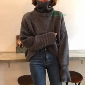 ブラウス秋と冬 新スタイル  バージョン 2019 肥厚暖かい高襟セーター秋 女性 ファッション