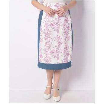 ミリオンカラッツ noranoel spring flower花柄スカート(ホワイト)
