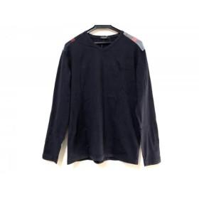 【中古】 ブラックレーベルクレストブリッジ 長袖Tシャツ サイズ3 L メンズ ダークネイビー マルチ