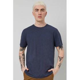 Tシャツ - FOREVER 21【MEN】 【マールドクルーネックTシャツ】無地 シンプル 紺 ネイビー XS S M L 半袖tシャツ