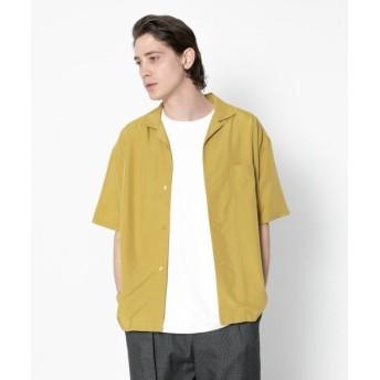 【64%OFF】 センスオブプレイス モダールオープンカラーシャツ(5分袖) メンズ YELLOW XL 【SENSE OF PLACE】 【セール開催中】