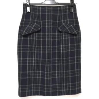 【中古】 アプワイザーリッシェ Apuweiser-riche スカート サイズ2 M レディース チェック柄