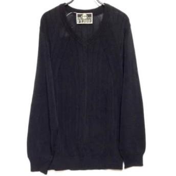 【中古】 ジャンフランコフェレ GIANFRANCO FERRE 長袖セーター サイズ48 XL レディース 黒 GOLF