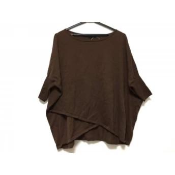 【中古】 アナイ ANAYI 半袖セーター サイズ38 M レディース ダークブラウン