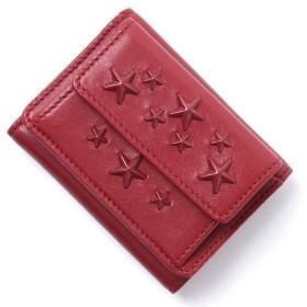 ジミーチュウ JIMMY CHOO 3つ折り財布 小銭入れ付き NEMO ネモ レッド レディース nemo-enl-red-red
