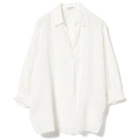 【35%OFF】 ビームス ウィメン Ray BEAMS / リネン ビッグ スキッパーシャツ レディース WHITE ONESIZE 【BEAMS WOMEN】 【タイムセール開催中】