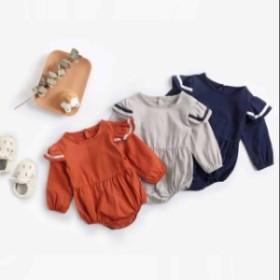 新品ロンパース カバーオール 新生児から 赤ちゃん  長袖 Baby ボディースーツ ベビー服 出産祝い 女の子 祝い