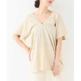 EMILY WEEK Cotton/Bamboo Vネックプルオーバー ナチュラル フリー