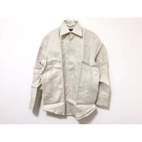【中古】 ヒューゴボス HUGOBOSS 長袖シャツ サイズ41 メンズ アイボリー