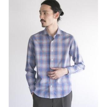 アーバンリサーチ URBAN RESEARCH Tailor スペックタータンチェックシャツ メンズ BLUE S 【URBAN RESEARCH】