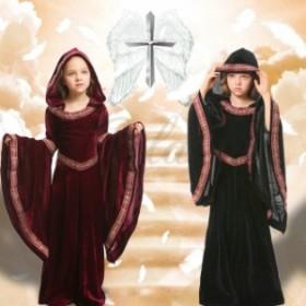 ハロウィン ヨーロッパ風 デビル 祈祷師 ヴァンパイア 魔女 シャーマン 2色 ドレス XS-L コスプレ衣装 ps3635