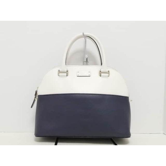 【中古】 ケイトスペード Kate spade ハンドバッグ 美品 黒 白 バイカラー レザー