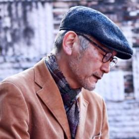 ハンチング 秋 冬 切り替え ドット柄 ヘリンボーン ウール ゴットマン 帽子 57cm 59cm Gottmann 高品