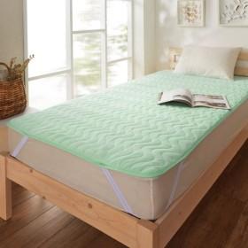 布団カバー シーツ 敷きパッド パッドシーツ 吸水速乾綿混パイルの敷きパッド カラー 「グリーン」