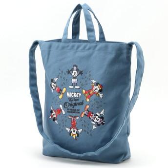 【ミッキー90周年デザイン】缶バッチ付2WAYキャンバストートバッグ