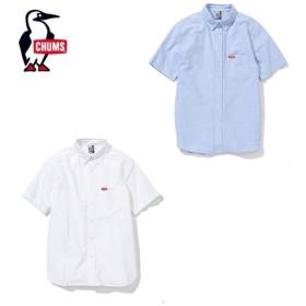 チャムス CHUMS 半袖シャツ メンズ CHUMS OX Shirt S/S チャムスオックスシャツ半袖 トップス シャツ CH02-1075 od