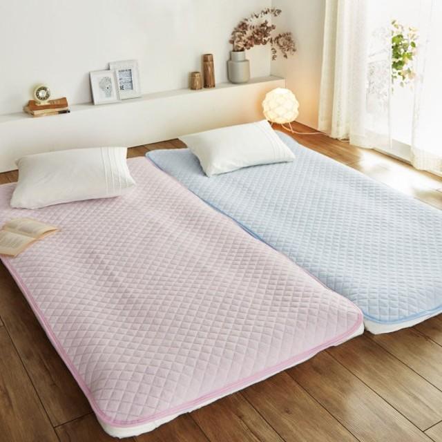 布団カバー シーツ 敷きパッド パッドシーツ 綿100%ソフトパイルの敷きパッド カラー 「ピンク」
