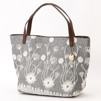 人気商品がパワーアップして再登場!花柄刺繍トートバッグ