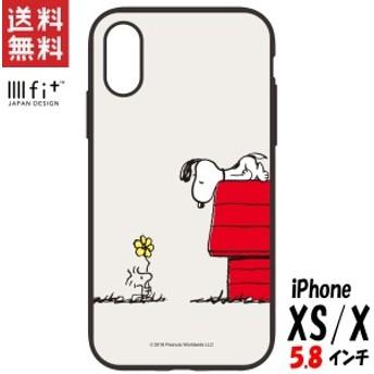 スヌーピー iPhone XS/X ケース 5.8インチ イーフィット IIIIfit ピーナッツ プレゼント SNG-302D