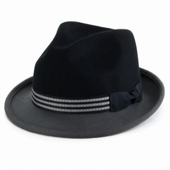 フェルトハット メンズ LTC KennyK 中折れ 帽子 秋冬 ハット 2トーン フェドラ ウール100% ソフトハ