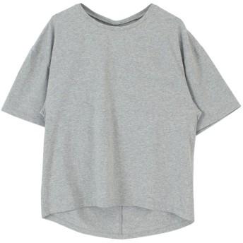 ティティベイト titivate バックツイストTシャツ (杢グレー)