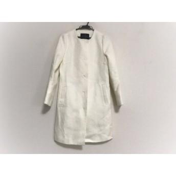 【中古】 ジャスグリッティー JUSGLITTY コート サイズ0 XS レディース 美品 白 冬物