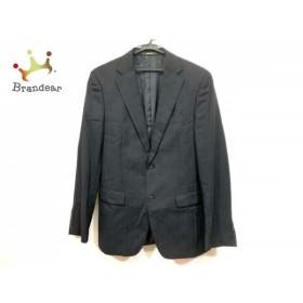 コムサメン COMME CA MEN ジャケット サイズ50 メンズ 黒 肩パッド/ストライプ   スペシャル特価 20190719