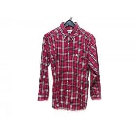 【中古】 バーバリーズ Burberry's 長袖シャツ サイズ41 メンズ レッド 黒 白 チェック柄