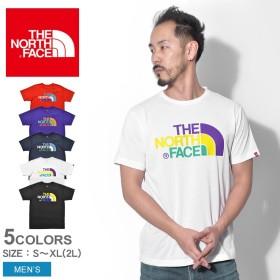 THE NORTH FACE ザノースフェイス Tシャツ S/S カラフル ロゴTEE NT31931 メンズ
