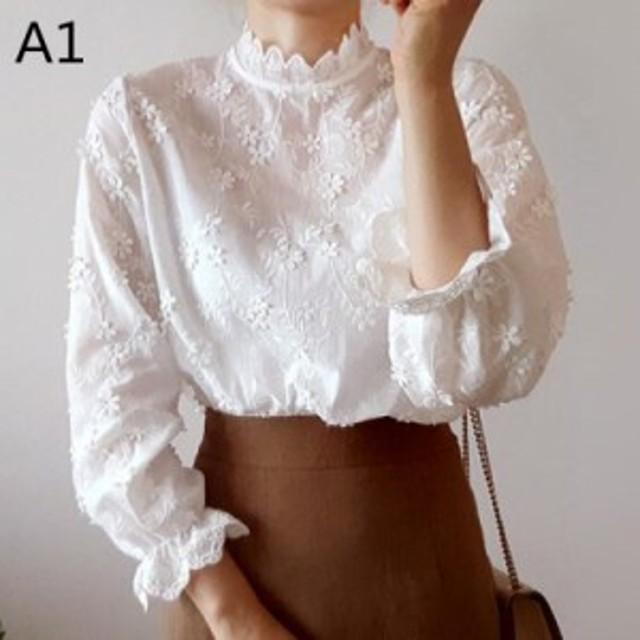 2019   レディース    シャツ   刺繍   トレンド    カジュアル   韓国ファッション   人気