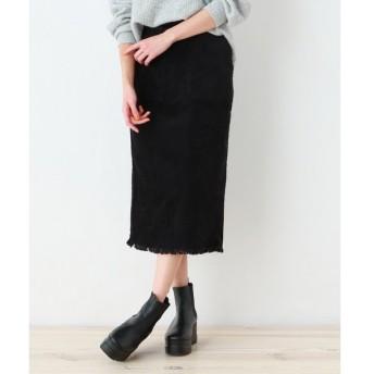 OZOC / オゾック 【洗える】裾フリンジナロースカート
