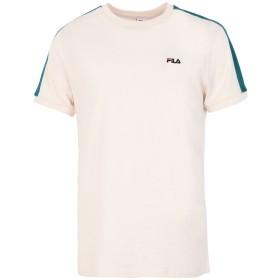 《期間限定セール開催中!》FILA HERITAGE メンズ T シャツ アイボリー XL コットン 100% MEN SALUS TEE SS