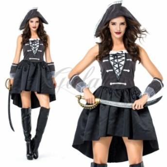 ハロウィン パイレーツ カリブ カリビアン 海賊 女海賊 M-XL ワンピース コスチューム コスプレ衣装 ps3542