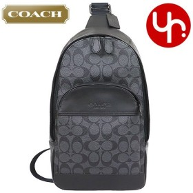 コーチ COACH バッグ ショルダーバッグ F39942 チャコール×ブラック ヒューストン シグネチャー PVC レザー スリング パック ボディー バッグ アウトレット