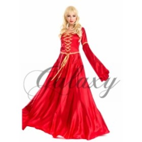 レッド ワンピース ドレス ベルスリーブ コスプレ 衣装 ps1752