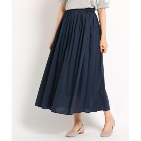 Dessin(Ladies)(デッサン(レディース)) 【洗える】【ウエストゴム】レーヨン混ギャザースカート