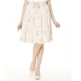 フラワーグログランリボンスカート