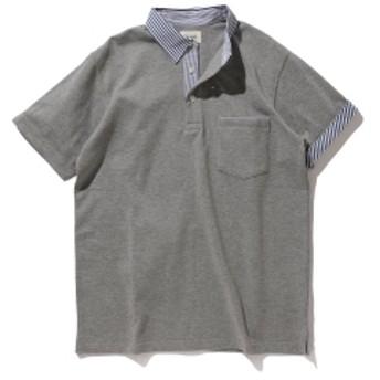【予約】BEAMS / クレリック ポロシャツ メンズ ポロシャツ TOP GREY XL