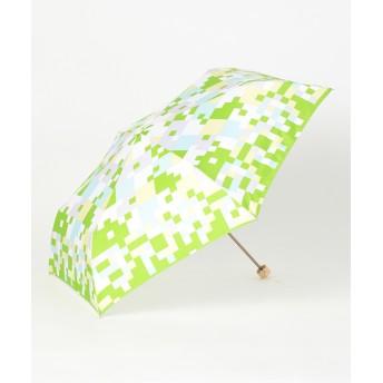 【オンワード】 MOONBAT(ムーンバット) estaa 折りたたみ傘 UV しぶきあめ ライトグリーン F レディース 【送料無料】