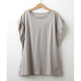 汗じみにくいレーヨン混素材ノースリーブトップス (Tシャツ・カットソー)(レディース)T-shirts