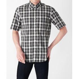 【SALE(三越)】<アルファー/ALPHA> 半袖カジュアルシャツ(668322) 001ブラック 【三越・伊勢丹/公式】